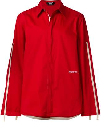 Calvin Klein taping detail shirt red