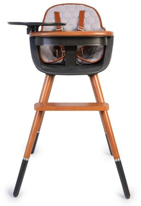 Micuna OVO City high chair with PU leather harness - Black/Honey