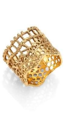 Aurelie Bidermann Vintage Lace Ring/Goldtone