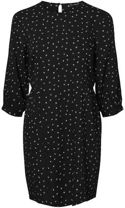 Vero Moda Short Printed Dress with 3/4 Length Sleeves