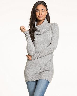 Le Château Cotton Blend Cowl Neck Sweater