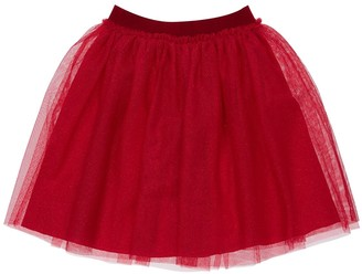 Il Gufo Glittered Stretch Tulle Skirt