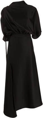 Ellery Draped Side Slit Dress