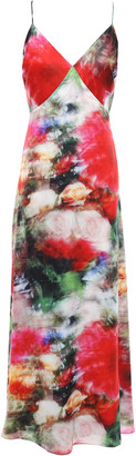 Adam Lippes Open-back Floral-print Hammered-silk Midi Slip Dress
