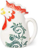 Vietri Gather Rooster Small Pitcher - White