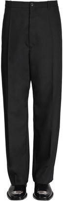 Balenciaga Baggy Wool Blend Tailored Pants