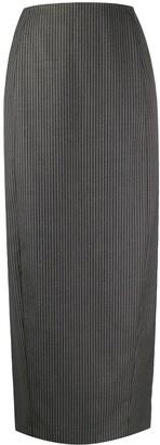 Gianfranco Ferré Pre-Owned 1990s Pinstripe Print Straight Skirt