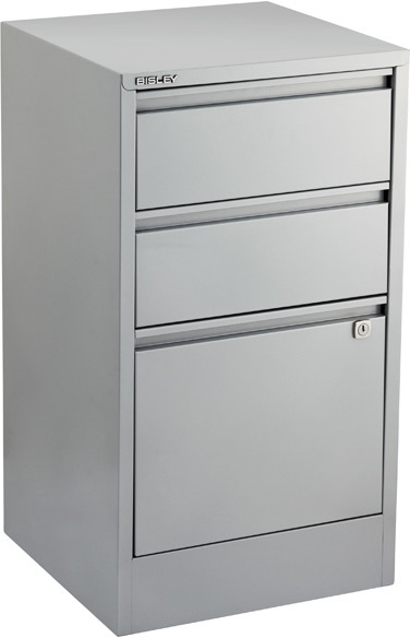 Bisley 3-Drawer File Cabinet Silver