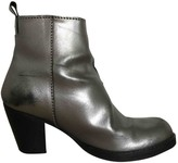 Acne Studios Pistol Silver Leather Boots