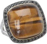 DeLatori - Tiger Eye Ring - 20-03-P424-36 (Sterling Silver/Tiger Eye) - Jewelry