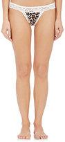 Fleur Du Mal Women's Charlotte Lace & Silk Satin Bikini Briefs