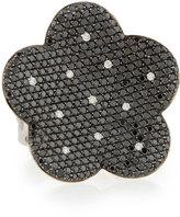 Roberto Coin Fantasia 18k Black & White Diamond Flower Ring, Size 7
