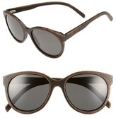 Shwood 'Madison' 54mm Round Wood Polarized Sunglasses