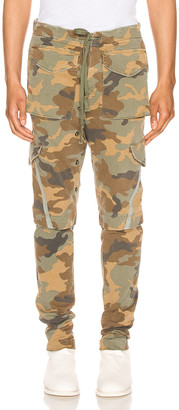 Greg Lauren Stretch Cargo Pants in Camo | FWRD