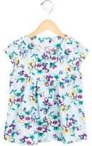 Kenzo Girls' Cap Sleeve Floral Print Top