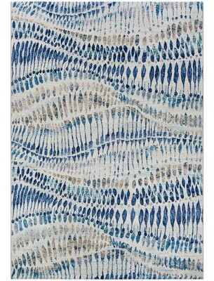 """Bungalow Rose Sultan Abstract Multicolor Area Rug Rug Size: 5'3"""" x 7'6"""""""