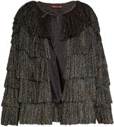 Missoni Collarless tiered-fringe jacket