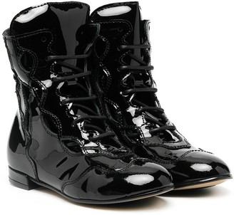 Marni Lace-Up Leather Boots
