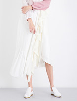 J.W.Anderson Frilled asymmetric silk skirt