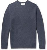 Officine Generale Slim-fit Brushed Virgin Wool Sweater - Storm blue