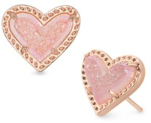 Kendra Scott Stone Heart Stud Earrings