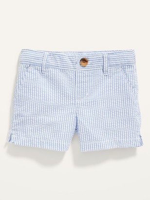 Old Navy Seersucker-Stripe Pull-On Chino Shorts for Toddler Girls