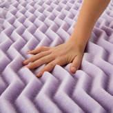 LUCID Lucid 2 Inch 5-Zoned Lavender Memory Foam Mattress Topper