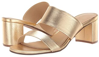 42 GOLD Liya (Clear/Black Suede) Women's Sandals
