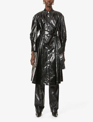 AKIRA NAKA Petra oversized cotton trench coat