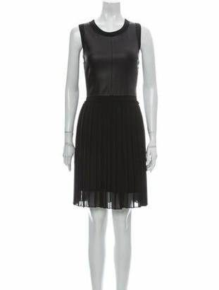 Prada Scoop Neck Knee-Length Dress Black