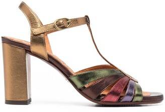 Chie Mihara Metallic Strap Sandals