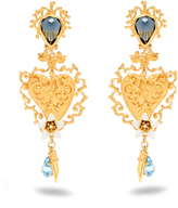 Dolce & Gabbana Heart-embellished clip on earrings