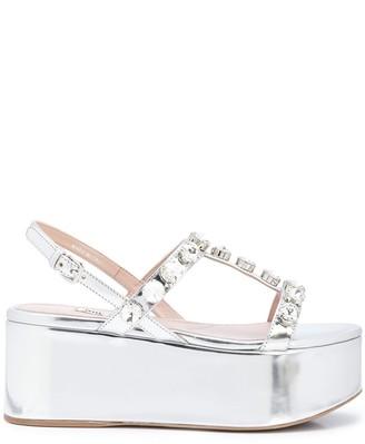 Miu Miu embellished flatform sandals