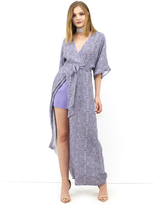 West Coast Wardrobe Sonoma High Slit Floral Maxi Dress in Purple Floral