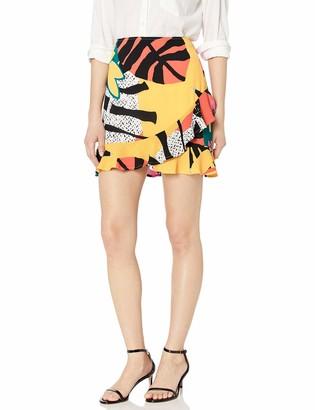 BCBGeneration Women's Graphic Floral Mini Skirt