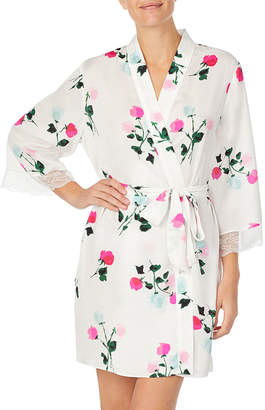 Kate Spade bridal watercolor rose short robe
