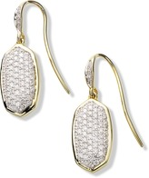 Kendra Scott Lee Earrings in Pave Diamond and 14k Yellow Gold