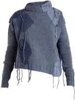 Acne Studios Ovira distressed intarsia-knit wool-blend sweater