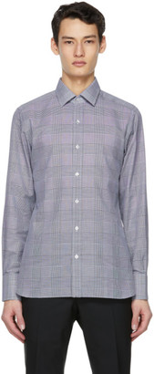 Tom Ford Black and White Check Slim-Fit Shirt