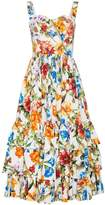 Dolce & Gabbana Floral cotton dress with ruffles