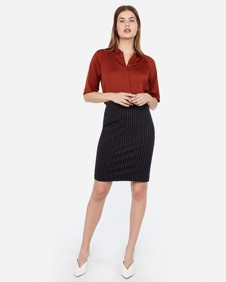 Express High Waisted Striped Pencil Skirt