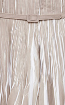 Oscar de la Renta Pleated Cotton Shirtdress
