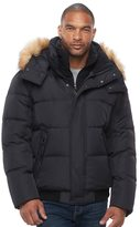 Andrew Marc Big & Tall Clermont Faux-Fur Bomber Jacket