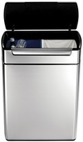 Simplehuman 48 Liter Rectangular Touch-Bar Recycler in Fingerprint-Proof Brushed Stainless Steel