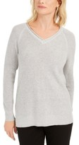 Charter Club V-Neck Pullover Knit Sweater, Created For Macy's