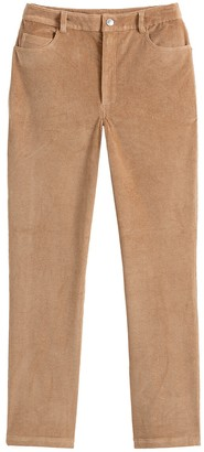 """La Redoute Collections Corduroy Mom Jeans with High Waist, Length 26"""""""