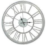 "Threshold 20.50"" H Iron Outdoor Galvanized Clock - Silver"