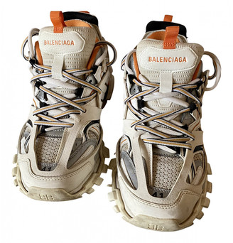 Balenciaga Track Beige Leather Trainers