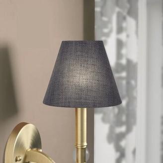 "Charlton Home 5"" Burlap Empire Candelabra Shade Charlton Home Color: Granite Gray"