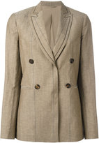Brunello Cucinelli button up blazer - women - Silk/Linen/Flax/Acetate/Virgin Wool - 46